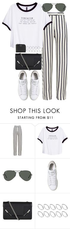 """Sin título #1104"" by osnapitzvic ❤ liked on Polyvore featuring Nicholas, H&M, Ray-Ban, adidas, Yves Saint Laurent and ASOS"