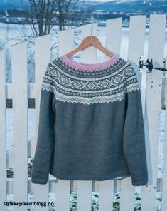 mariusgenser med rundfelling Cosy, Fair Isles, Pullover, Knitting, Norway, Sweaters, Pattern, Crafts, Inspiration