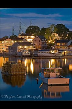 The soft evening light settles in over Boothbay Harbor, Maine, USA {Photo by Darylann Leonard Photography} Maine New England, New England States, Vacation Places, Vacation Spots, Vacations, New Hampshire, Rhode Island, Vermont, Connecticut