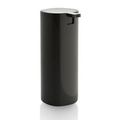 Discover the Alessi Tall Birillo Liquid Soap Dispenser - Dark Grey at Amara