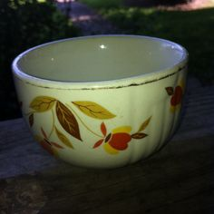 $.25 Hall soup bowl. Found at a church sale.