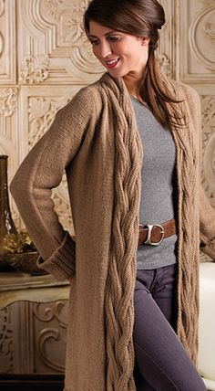 Cardigan Sweater Knitting Patterns - In the Loop Knitting Knit Cardigan Pattern, Sweater Knitting Patterns, Cable Cardigan, Cable Knitting, Knitted Jackets Women, Jackets For Women, Coat Patterns, Knit Jacket, Pullover