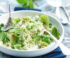 Une assiette de couscous aux fèves