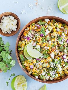 Cinco de Mayo is just around the corner – what a perfect excuse to make this delicious Mexican Street Corn Salad with Avocado!