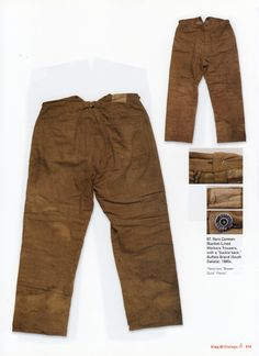 Buffalo Brand Blanket-Lined Workers Trousers, 1880's