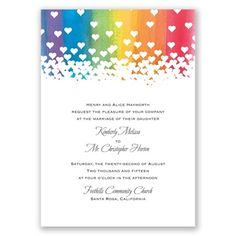 a rainbow wedding rainbow wedding place cards and rainbows - Rainbow Wedding Invitations