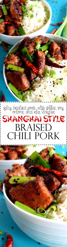 Shanghai Style Braised Chili Pork - Sweet, salty, and spicy – three of my favourite flavour profiles are combined in this Shanghai Style Braised Chili Pork recipe to create a wonderfully, tasty dish which comes together easily and effortlessly. This dish is the epitome of bang for your buck!