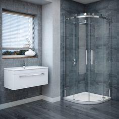 The Nova Frameless Quadrant Enclosure has a modern and minimal finish, great for contemporary showers.