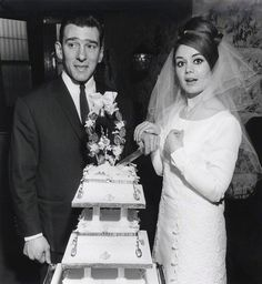 Kray twin Ronnie Kray and his wife, Frances, on their Wedding Day by David Bailey April 1965