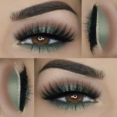 So pretty! Paola St Patrick's day inspired look Details: ___ ღ Eyeshadows: BH Cosmetics 88 color matte palette ___ ღ Lashes: Amy June Lashes in Jasmine ___ ღ Eyebrows: Motives® by Loren Ridinger Essential Brow Kit - Makeup Products Gorgeous Makeup, Love Makeup, Makeup Inspo, Makeup Inspiration, Makeup Ideas, Sleek Makeup, Makeup Tips, Makeup Set, Makeup Tutorials