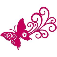 Silhouette Design Store: butterfly swoosh