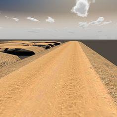 3d model dirtroad desert road