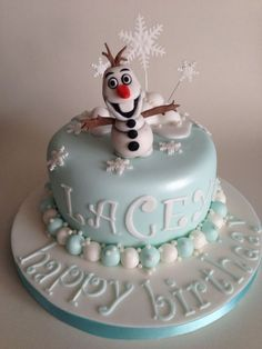 frozen cake | Disney Frozen Olaf cake :-)