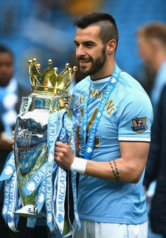 Manchester City FC striker Alvaro Negredo