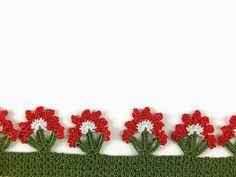Flores rojas Oya ganchillo gargantilla verde  declaración