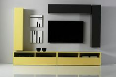 Media cabinet ikea - media such as television, DVD, radio and others - others today are electronic items that cannot be separated from humans Lcd Panel Design, Tv Options, Modern Tv Wall Units, Modern Wall, Modern Living, Tv Wand, Inside A House, Tv In Bedroom, Bedroom Apartment