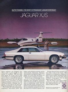 Private jet or 1979 Jaguar XJS? (Both got around the same fuel economy.)