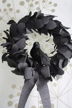 "Edgar Allen Poe - inspired Halloween Wreath  ""Nevermore"""