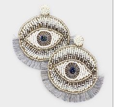 Beaded Tassel Earrings, Statement Earrings, Dangle Earrings, Crochet Earrings, Heart Shaped Earrings, Circle Necklace, Instagram Shop, Evil Eye, Beautiful Necklaces