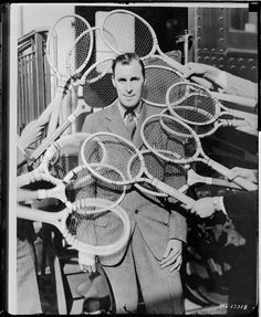 bill tilden, 1931 Squash Club, Tennis Photos, Tennis Legends, Le Tennis, Vintage Tennis, Boston Public Library, Tennis Players, Photos Du, Real Women