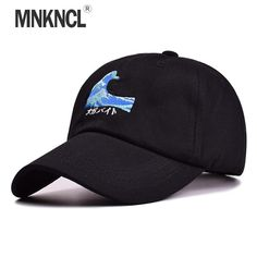 buy on wallmart.win MNKNCL 2017 New Year Gifts Casual Character Wave Baseball Hats Women Cotton Black White Pink Cap Men Snapback caps:…