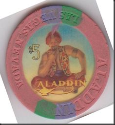 This chip is from the Aladdin Casino in Las Vegas, Nevada.