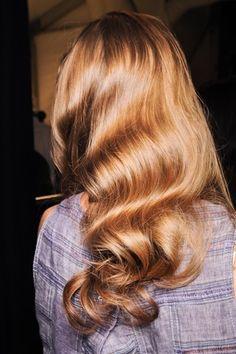 Old Hollywood glam hair