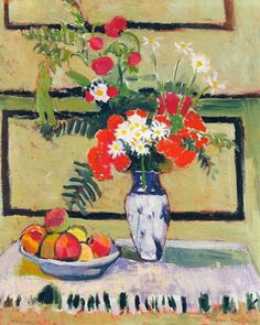 Life, Flowers and FruitBy Henri Matisse Still Life, Flowers and Fruit Art Print by Henri Matisse Henri Matisse, Matisse Kunst, Matisse Art, L'art Du Fruit, Fruit Art, Matisse Paintings, Picasso Paintings, Art Floral, Matisse Pinturas