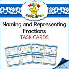 naming fractions task cards from teachers make a difference on 17 pages. Black Bedroom Furniture Sets. Home Design Ideas