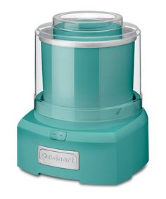 The only thing better than homemade ice cream, is homemade ice cream from a super cute ice cream maker.  Sucker for turquoise!