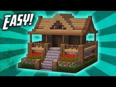Minecraft: How To Build A Survival Starter House Tutorial (#7) - YouTube
