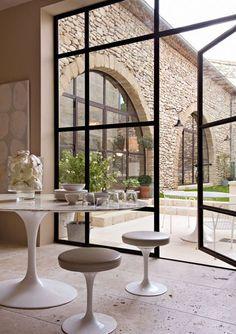 Une baie vitrée magique