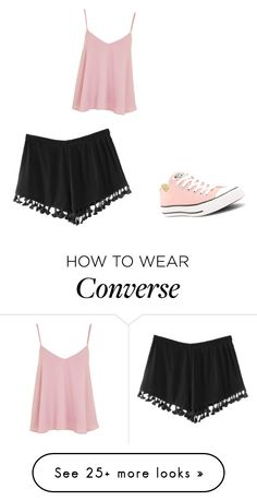 """Baby Pink"" by magellangirl on Polyvore featuring Converse and Topshop"