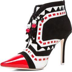 """Sophia Webster """"Riko"""" 100 mm Pointy Suede Booties in Red. Follow my Wonderfully Weird fashion blog kanarianskorner.info and Instagram @sincerekaye #sophia# #sophiawebster# #suede# #booties# #red# #couture# #black# #women# #womenfashion# #hautecouture# #vintage# #fashionista# #fashion# #fashionweek# #fashionblogger# #heels# #stilettos# #platforms# #wedges# #pumps# #sandals# #accessories# #models# #instagram#"""