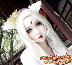 kitsune Japanese fox goddess makeup halloween / art