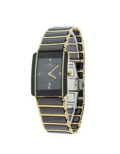 Oniss ON294-MBK/GBK Men's Watch Black Dial Diamonds Gold-Plated Stainless Steel Black Ceramic