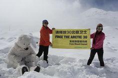 BASE DEL MONTE EVEREST  Vos también podés sumarte al pedido. Pedí que Liberen a los activistas: http://grpce.org/H8R1rh  © Greenpeace / Zhou Li