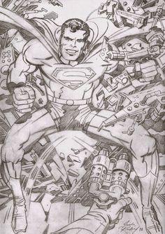Cap'n's Comics: Superman by Jack Kirby Comic Book Artists, Comic Artist, Comic Books Art, Superman Comic Books, Comic Book Heroes, Superman Stuff, Jack Kirby Art, Jack King, Dc Comics Superheroes