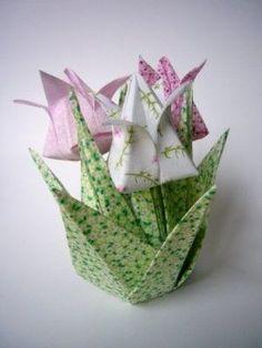 Pra Gente Miúda: Tulipas de Origami para a mamãe