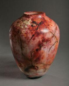 Tim Scull: Saggar Fired Vessel (Salmon - Orange) • Ceramics Now - Contemporary ceramics magazine