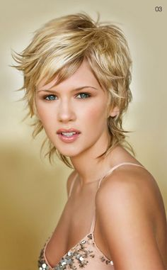 love this short shag haircut from John Anthony salon