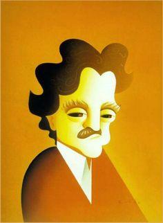 Caricatures by Robert Risko  Kurt Vonnegut