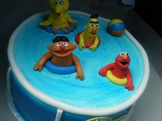Sesame Street Pool Party, (via Flickr. - Cakes by BrownSuga')