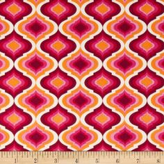 Designed by Tula Pink for Free Spirit, this cotton print is perfect for quilting, apparel and home decor accents.  Colors include cream, green-grey, persimmon, orange, pink and green.