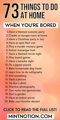 Fun things to do when you're bored at home. Productive things to do when bored. Things to do at home for teens. What to do when bored with friends. Things to do at home for kids. What to do when bored at home with bff. Things to do at night. Productive Things To Do, Things To Do At Home, Fun Things, How To Do Calligraphy, Murder Mystery Games, Life On A Budget, Nerf War, Paying Off Student Loans, Things To Do When Bored