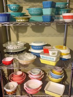Pyrex. Lots and lots of Pyrex...