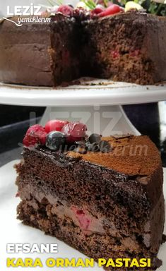 Easy Cake Recipes, Dessert Recipes, Desserts, Food Words, Turkish Recipes, How To Make Cake, Cheesecake, Food And Drink, Yummy Food