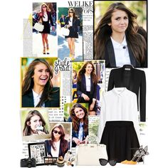 """Nina Dobrev on extra"" by mery90 on Polyvore"
