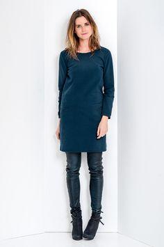 Gave jurk in combi met leren broek van Humanoid