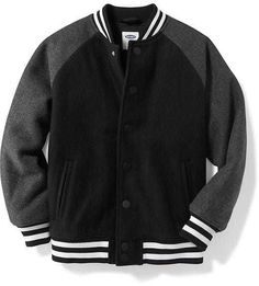 5832c4b30 Old Navy Wool-Blend Bomber Jacket for Boys - ShopStyle Outerwear